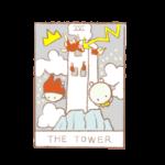 タロットカードno.16「塔」の正位置・逆位置の意味と解釈の仕方