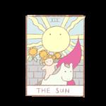 タロットカードno.19「太陽」の正位置・逆位置の意味と解釈の仕方